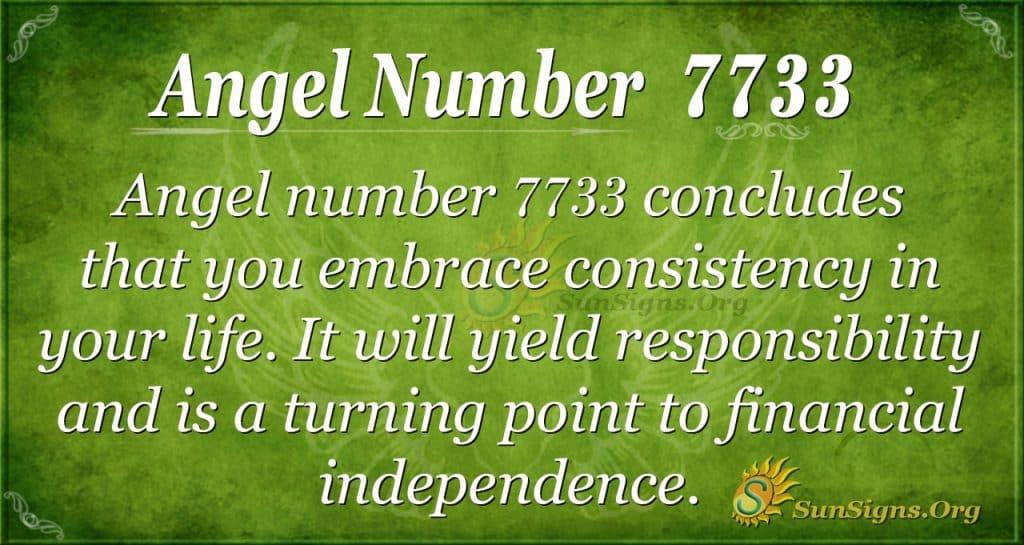 angel number 7733