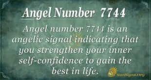 angel number 7744