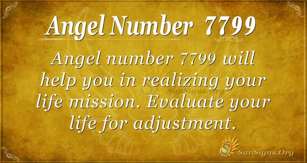 angel number 7799