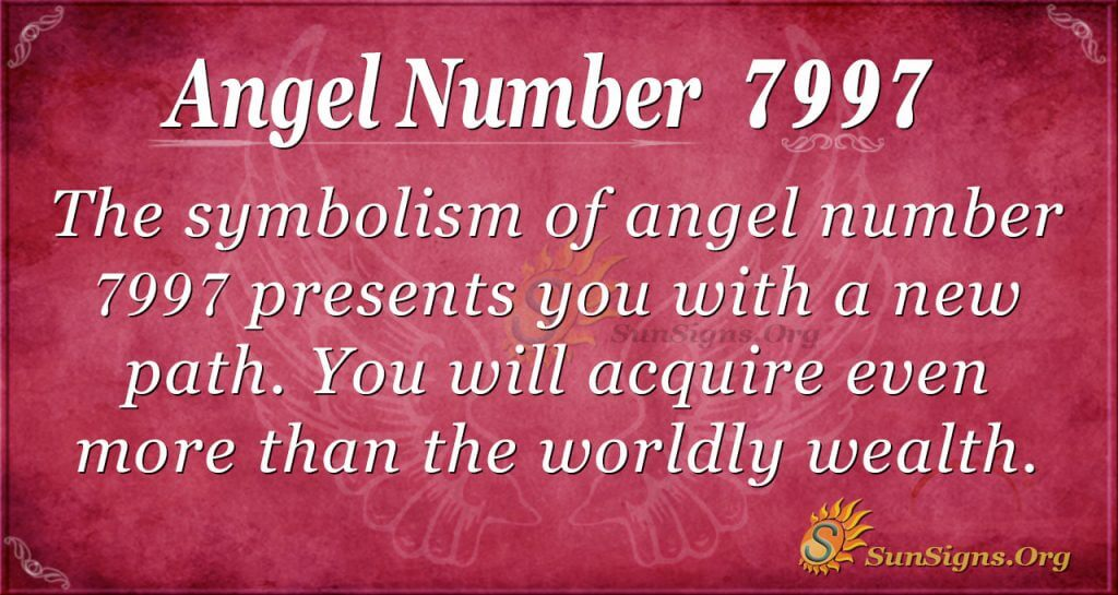 angel number 7997