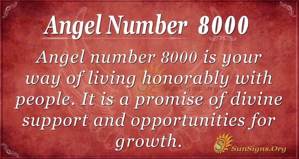 angel number 8000