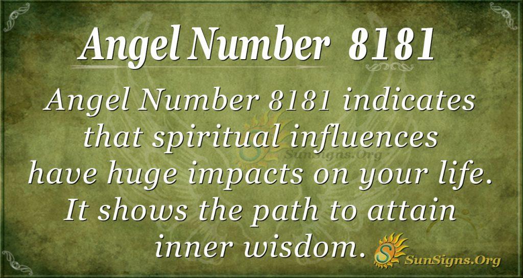 angel number 8181