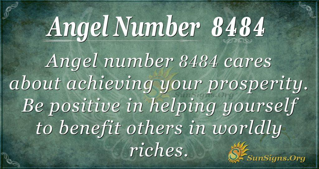 angel number 8484