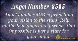 angel number 8585
