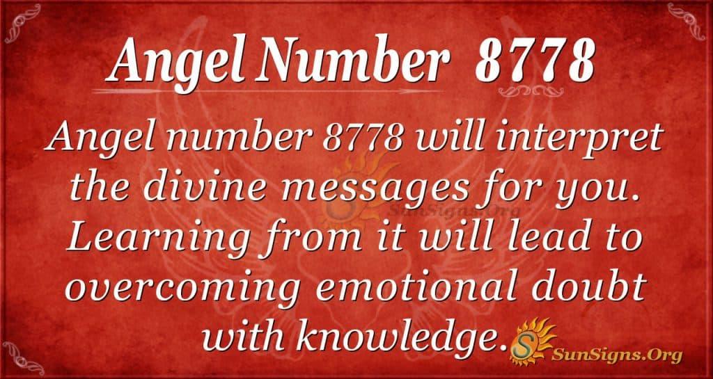 angel number 8778