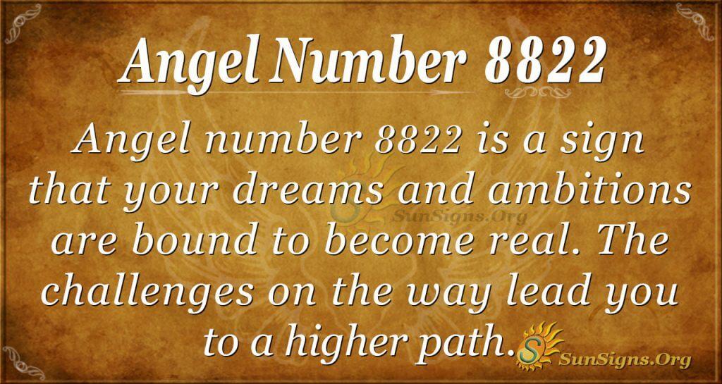 Angel Number 8822