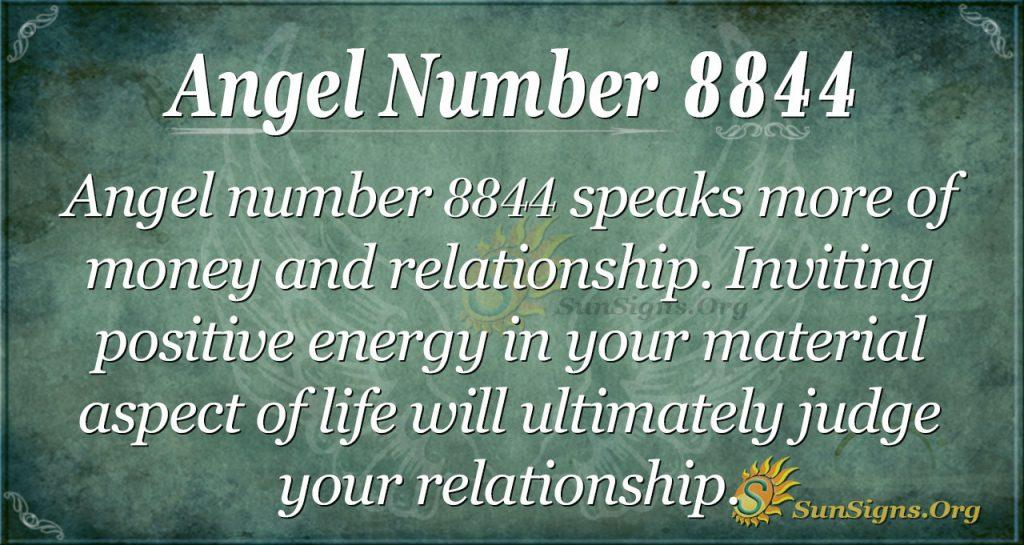 Angel Number 8844