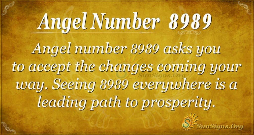 angel number 8989