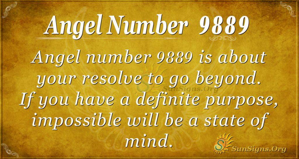 angel number 9889