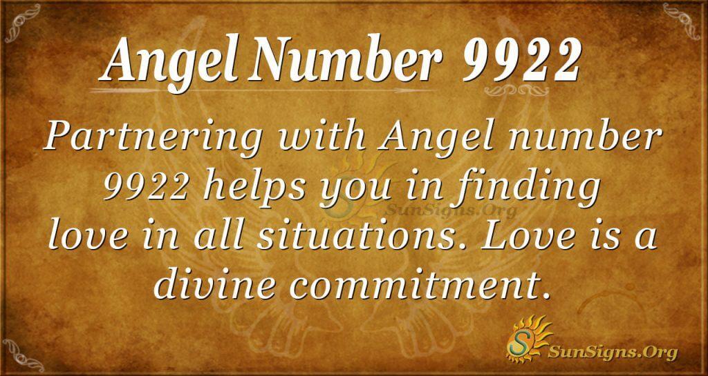 angel number 9922