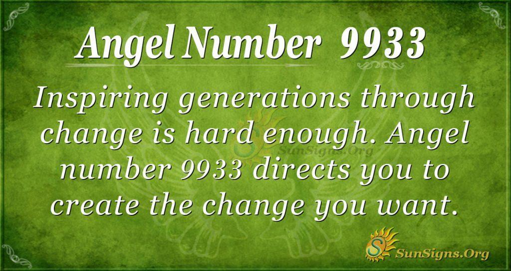 angel number 9933