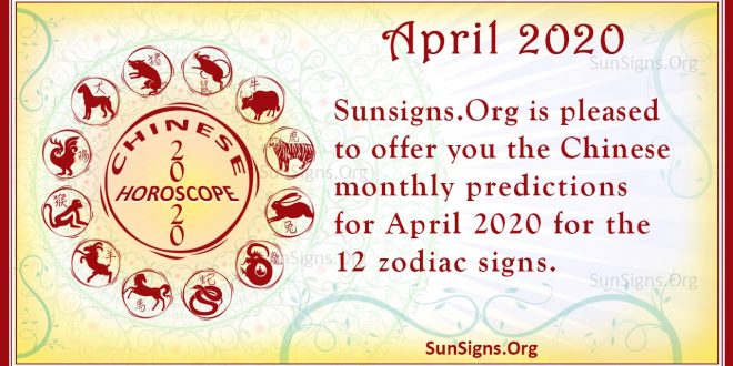 chinese horoscope april 2020