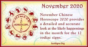 chinese horoscope november 2020