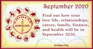 chinese horoscope september 2020