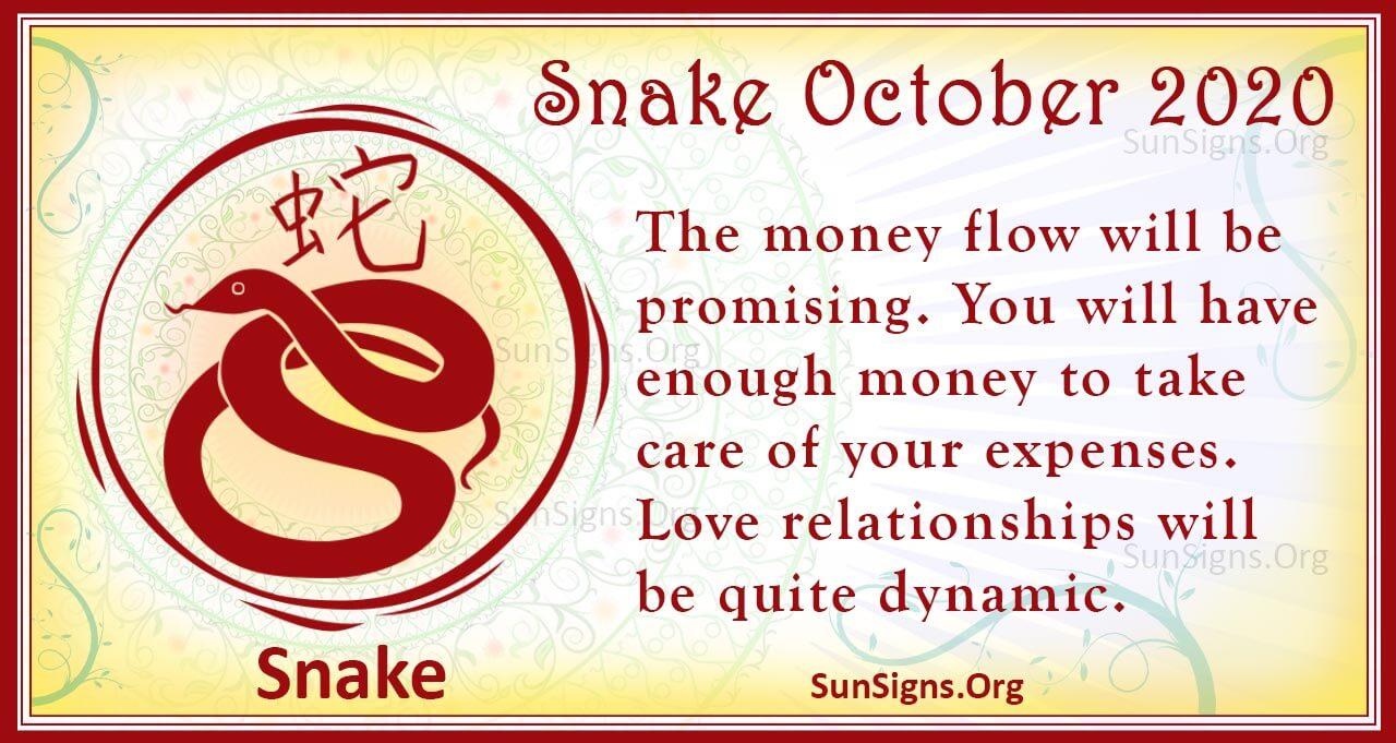 snake october 2020