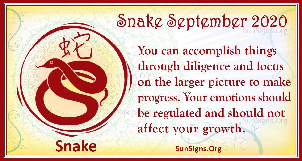 snake september 2020