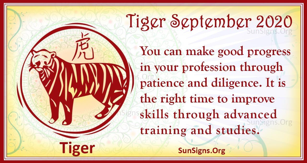 tiger september 2020