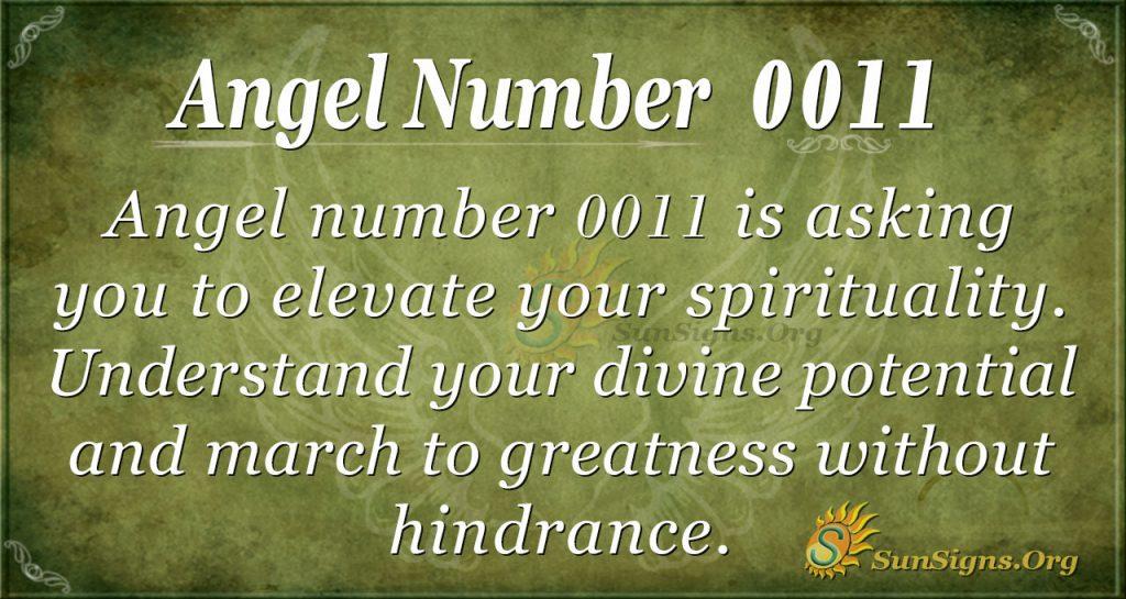 angel number 0011