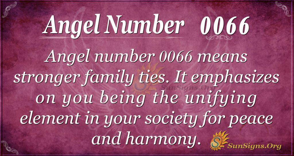 Angel Number 0066