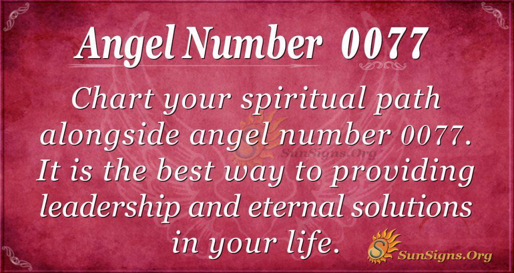 Angel Number 0077