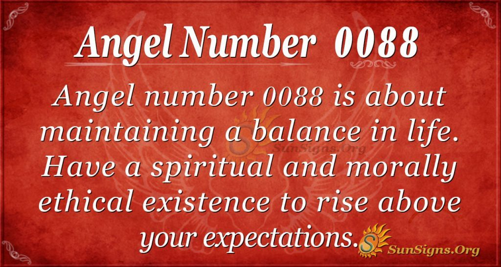 Angel Number 0088