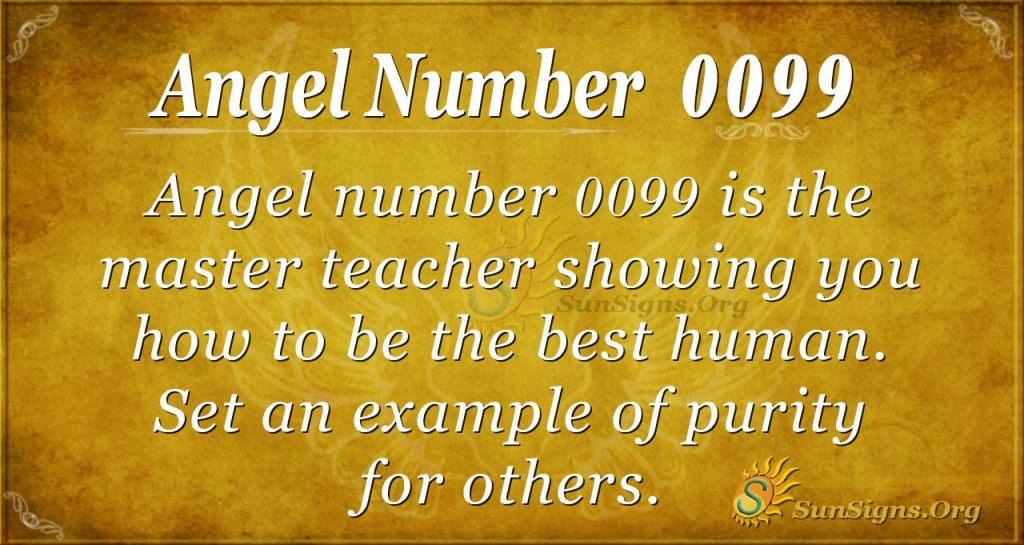 angel number 0099