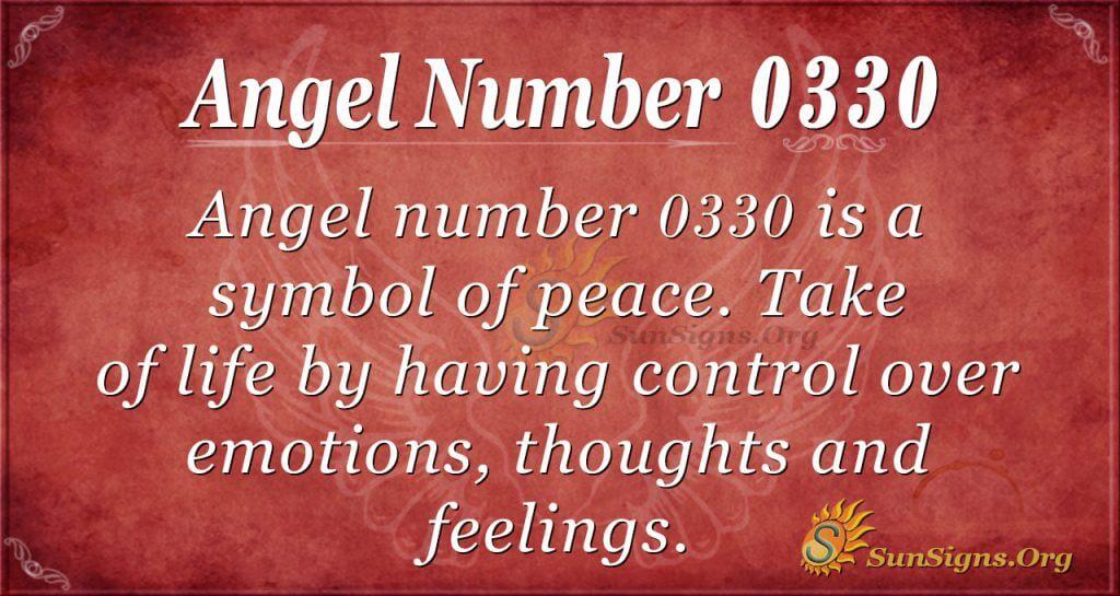 angel number 0330