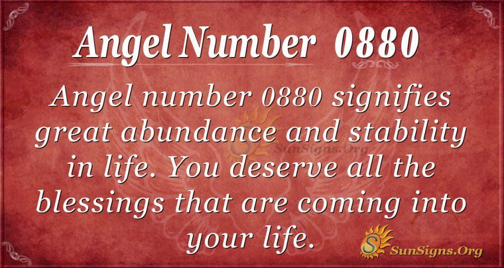 angel number 0880