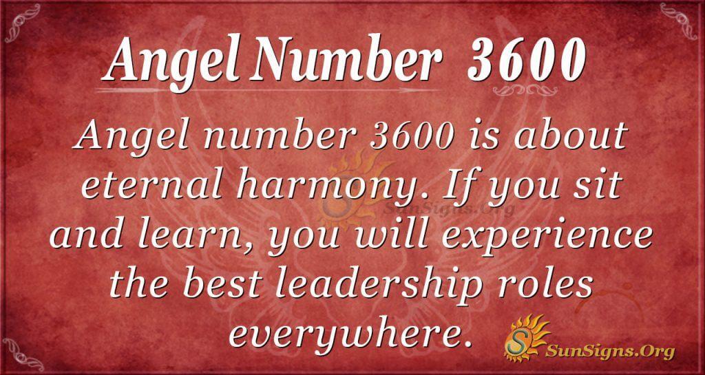 angel number 3600