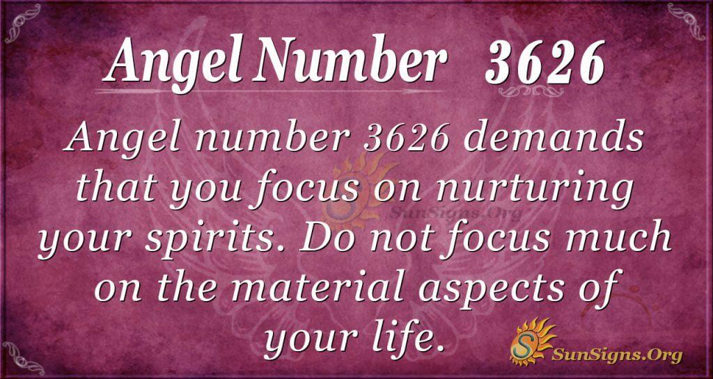 Angel Number 3626