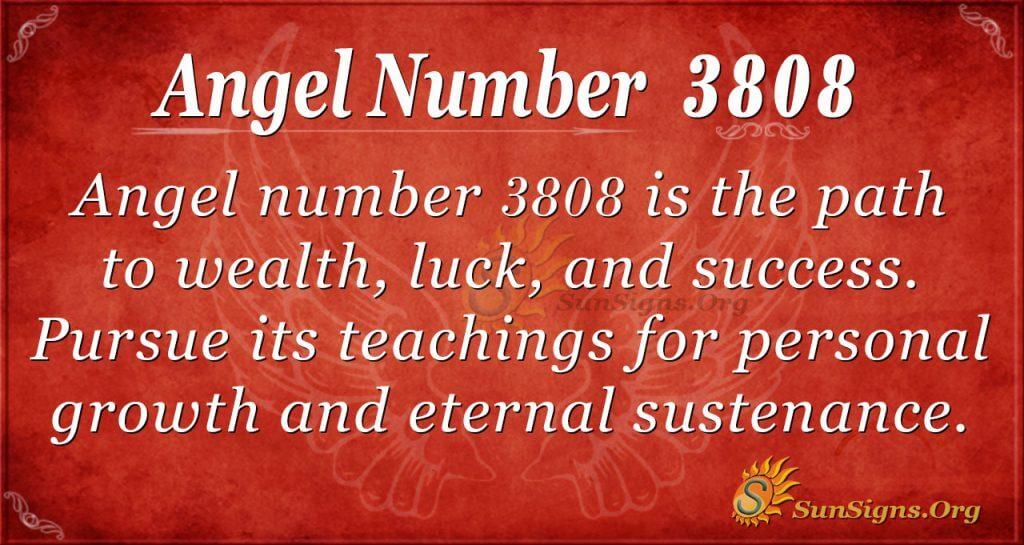 angel number 3808