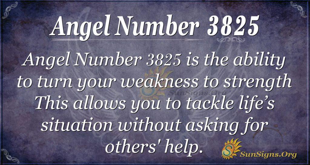 angel number 3825