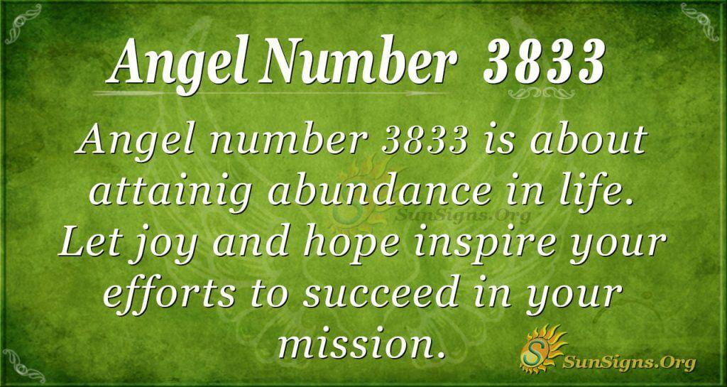 Angel Number 3833