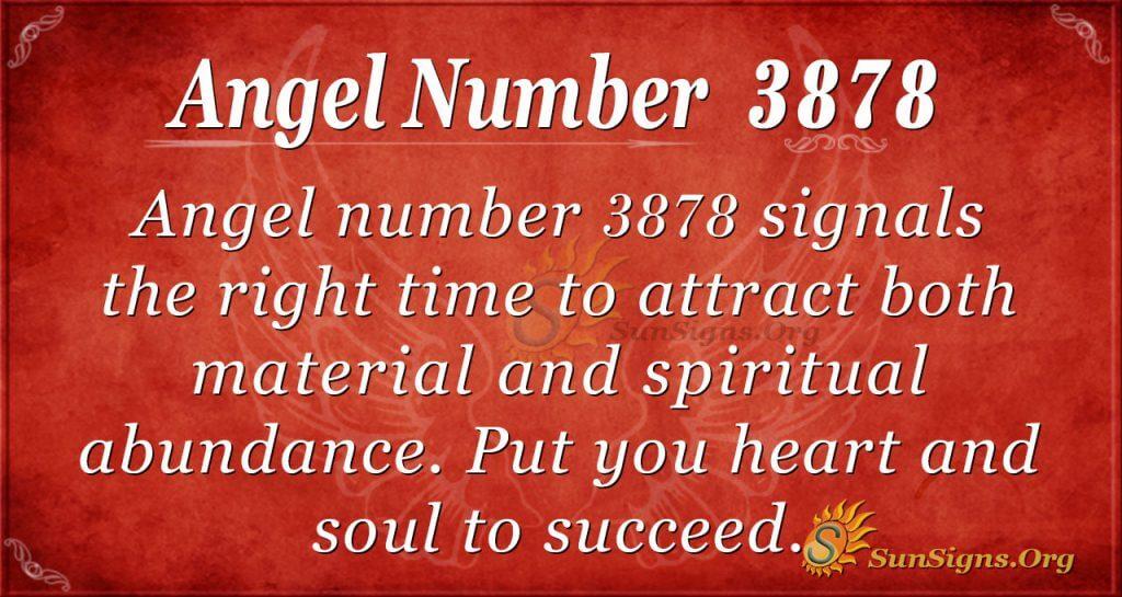 angel number 3878