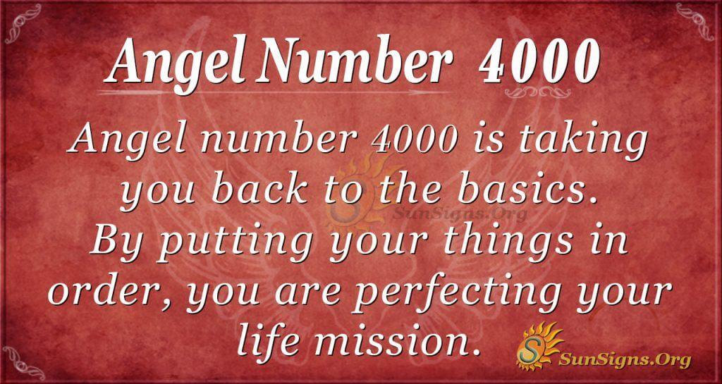 angel number 4000