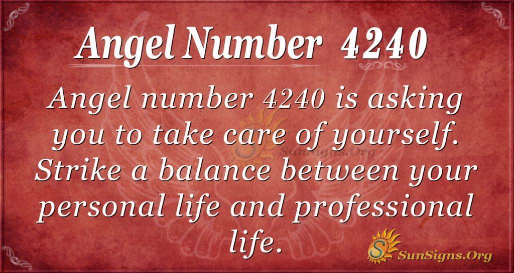 angel number 4240