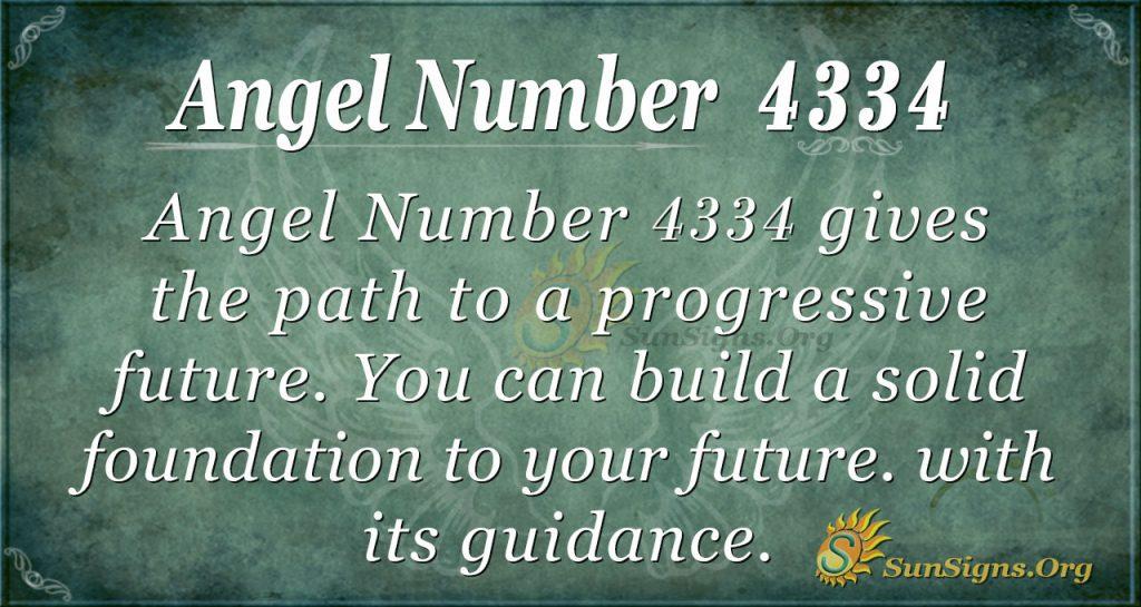 angel number 4334
