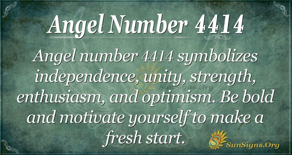 Angel Number 4414
