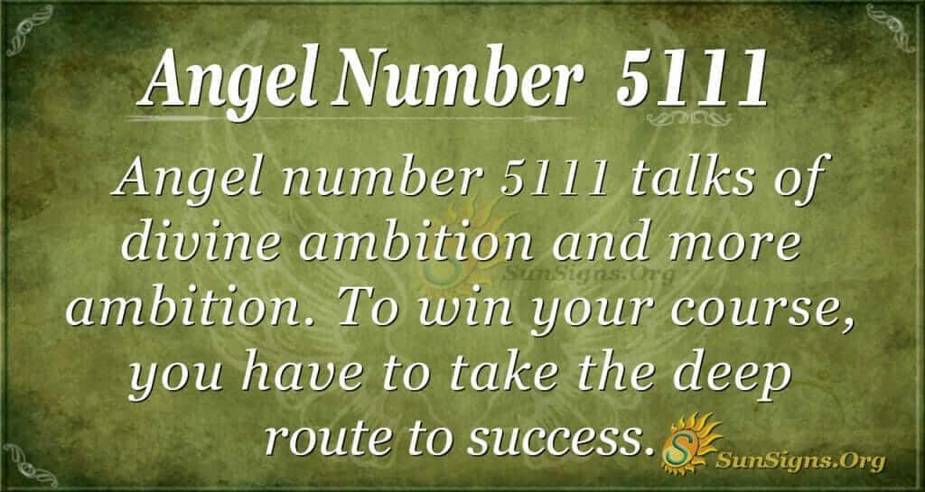 Angel Number 5111