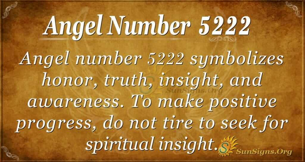 angel number 5222