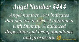 angel number 5444