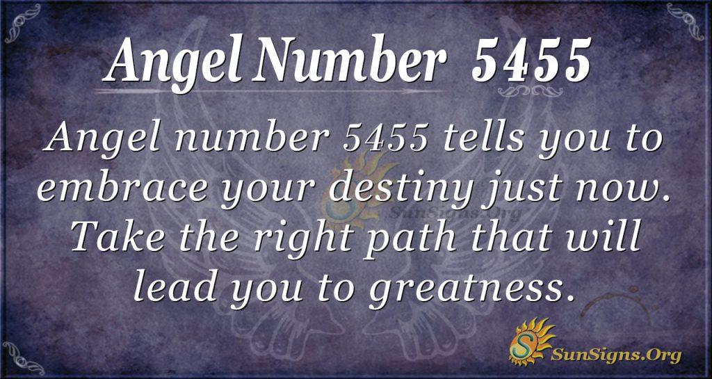 angel number 5455