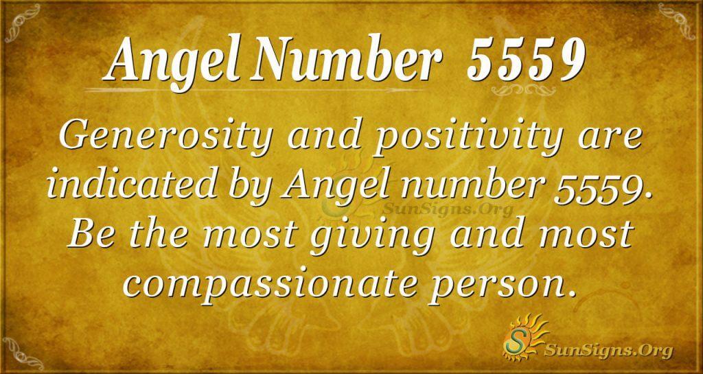 Angel Number 5559