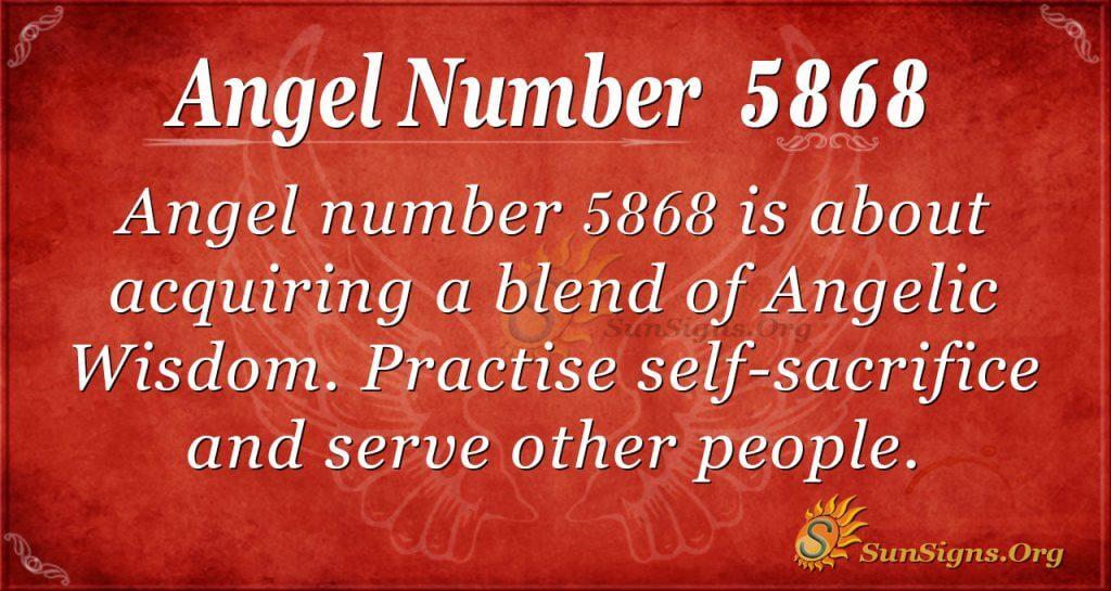 angel number 5868