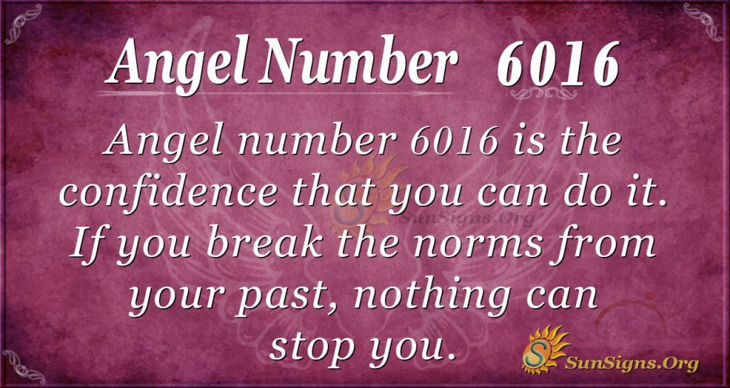 Angel Number 6016