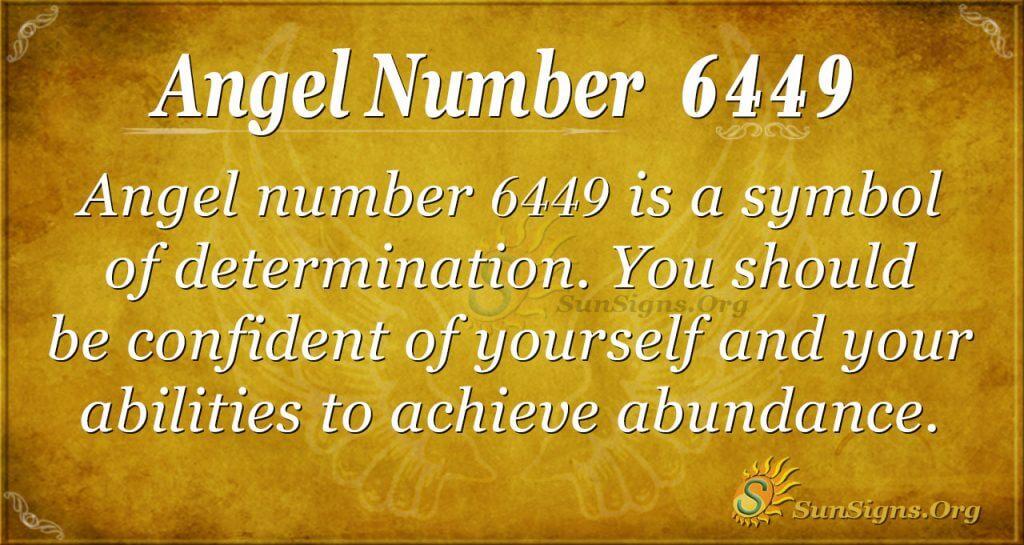 angel number 6449