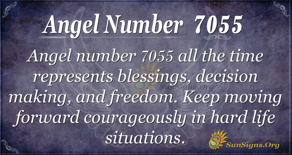angel number 7055