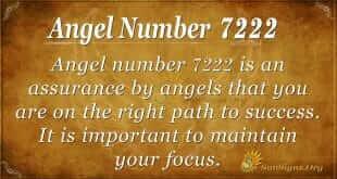 angel number 7222