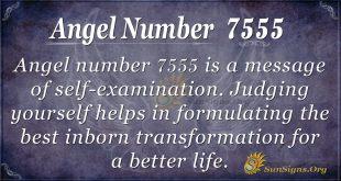angel number 7555