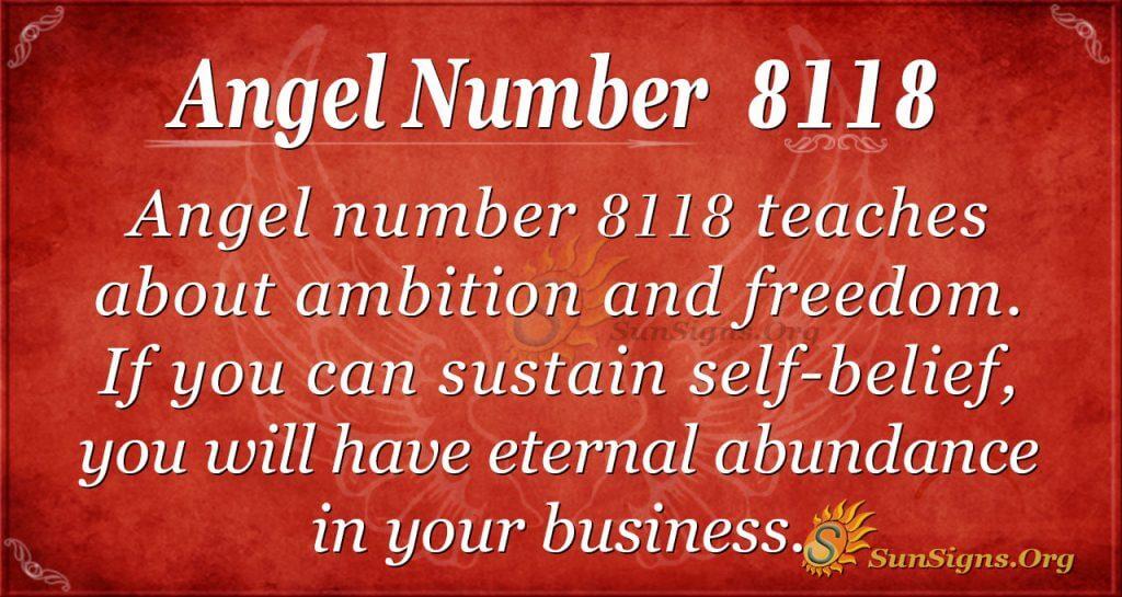 angel number 8118
